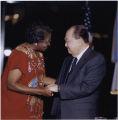 Clara Adams-Ender and Senator Daniel Inouye, circa 1999