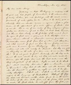 Letter from William Lloyd Garrison, Brooklyn, [Conn.], to Mary Benson, Nov. 27, 1835