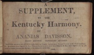 A Supplement, to the Kentucky harmony
