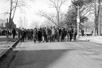 Colleges; Eastern Michigan University; Students. Attempted sit-in & demonstration