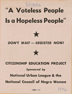 Flyer promoting the Citizenship Education Project