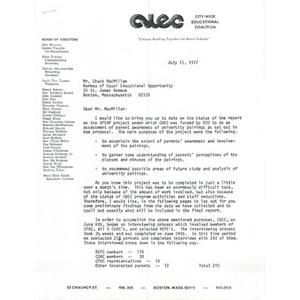 Letter, Chuck MacMillan, July 15, 1977.