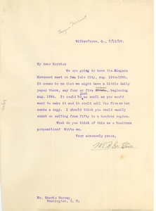 Letter from W. E. B. Du Bois to Morris Murray