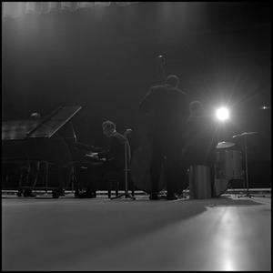 [Dave Brubeck Quartet performing for North Texas State University students]