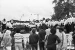 Performance at LA Marathon, Los Angeles, 1986