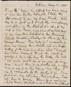 Letter from Richard Davis Webb, Dublin, to Samuel May, May 12, 1865