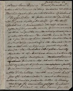 Letter from Sarah Pugh, Park St., [Bristol, England], to Caroline Weston, Nov. 9, [18]52