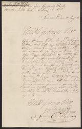 Letter, Samuel Fellman / J.G. de Mey