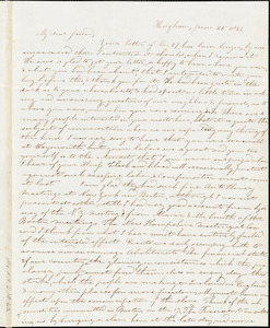 Letter from Evelina A. S. Smith, Hingham, [Mass.], to Caroline Weston, June 25, 1843