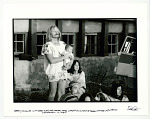 Barry McGuire with baby Ever and mother Patty, watching sunset at Seaton Village, NM. September 14, 1967.