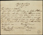 Big Warrior payment order and receipt, 1817