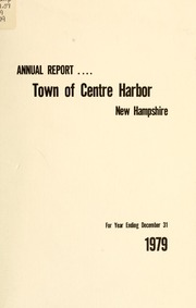 Annual report. Town of Center Harbor, New Hampshire, 1979