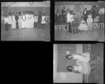Set of negatives by Clinton Wright including NAACP Youth and Merit Drugs baseball team, 1964