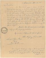 Letter from Allen Kingsbury to Lewis Tappan
