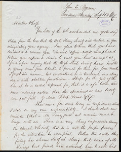 Leter from John Edwin Brown, Providence, to Amos Augustus Phelps, Sept 12 1837