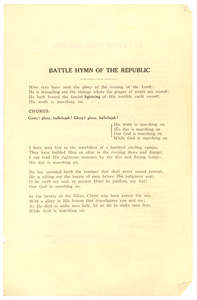 Battle hymn for the republic / Lift every voice and sing