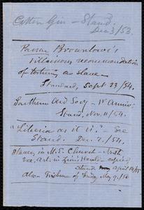 Memorandum and newspaper clipping from Samuel May