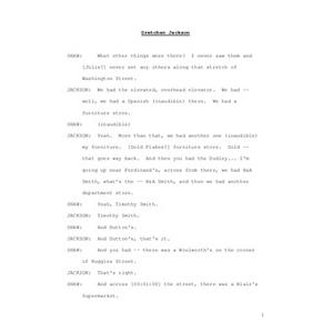 Interview with Gretchen L. Flippin Jackson, April 10, 2009 [transcript]