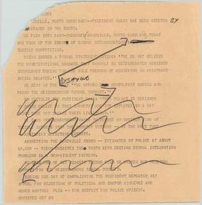 News Script: Nixon in Asheville NBC News Scripts