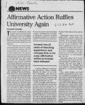 Affirmative Action Ruffles University Again