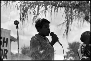 Female Gospel Singer Perfomring 6th Annual Texas Folklife Festival