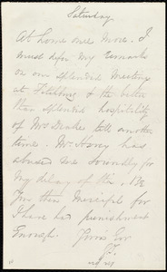 Letter from George Thompson to Anne Warren Weston, [12 January 1850]
