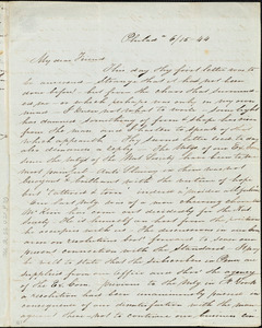 Letter from Sarah Pugh, Philad[elphia], [Penn.], to Maria Weston Chapman, 6/15 - [18]44