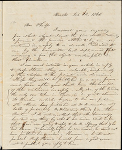 Letter from Luther Wiswall, Brooks, [Maine], to Amos Augustus Phelps, 1846 Feb[ruary] 12