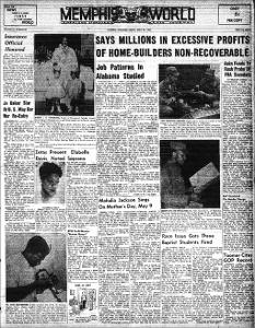 Memphis World, 1954 April 23rd