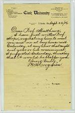 Clark University Letters
