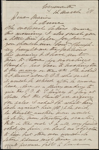 Letter from Deborah Weston, Weymouth, [Mass.], to Maria Weston Chapman and Anne Greene Chapman Dicey, 12 March [18]61