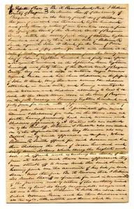 Affidavit regarding seizure of slaves