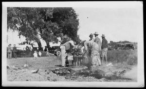 A barbecue at Camp George
