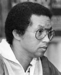 Arthur Ashe, a side profile