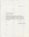 John Crews to Miss Houston, 10 December 1970
