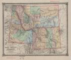 County map of Idaho, Montana, and Wyoming