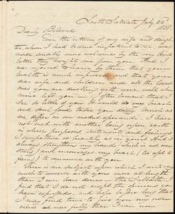 Letter from Samuel Joseph May, South Scituate, [Massachusetts], to William Lloyd Garrison, 1838 July 22d