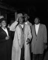 Fred Shuttlesworth standing outside the night his house was bombed.