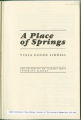 """Excerpts from """"A Place of Springs"""" by Viola Goode Liddell."""
