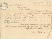 Letter from Lewis Tappan to S.M. Booth