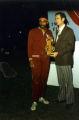 Robert Taylor receiving Trophy