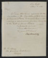 Governors' Papers: William Hawkins Correspondence, April 1813