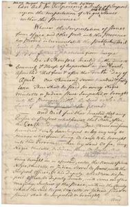Act for imposing a duty on the importation of slaves into Massachusetts (draft), [20 March?] 1767