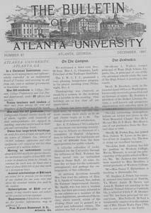 The Bulletin of Atlanta University, December 1897 no. 87, Atlanta, Georgia