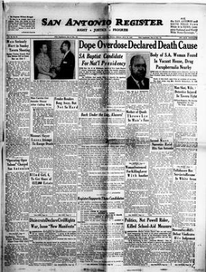 San Antonio Register (San Antonio, Tex.), Vol. 26, No. 23, Ed. 1 Friday, July 20, 1956 San Antonio Register