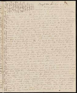Letter from Anne Warren Weston, Boylston St., [Boston], to Deborah Weston, Sept. 15, 1837, Friday afternoon