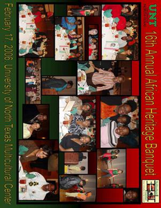 African Heritage Banquet picture collage