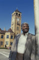 Lucius Amerson, former sheriff of Macon County, Alabama, in front of the courthouse in downtown Tuskegee.