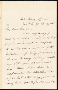 Letter from Oliver Johnson, New York, [N.Y.], to William Lloyd Garrison, 27 April, 1865