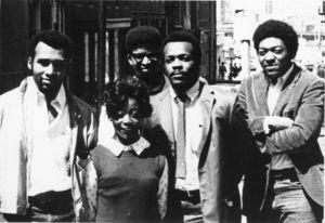 Members of Suffolk University's Afro-American club, 1969
